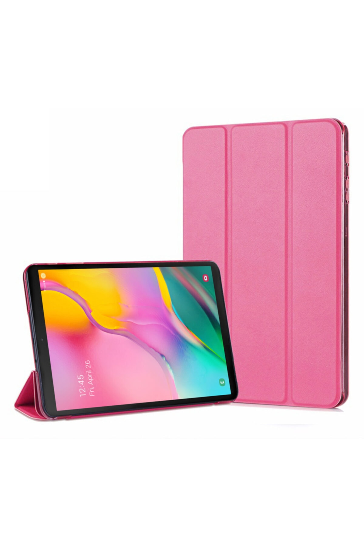 Microsonic Galaxy Tab A 10.1'' T510 Smart Microsonic Koyu Pembe Case ve Arka Kılıf 1