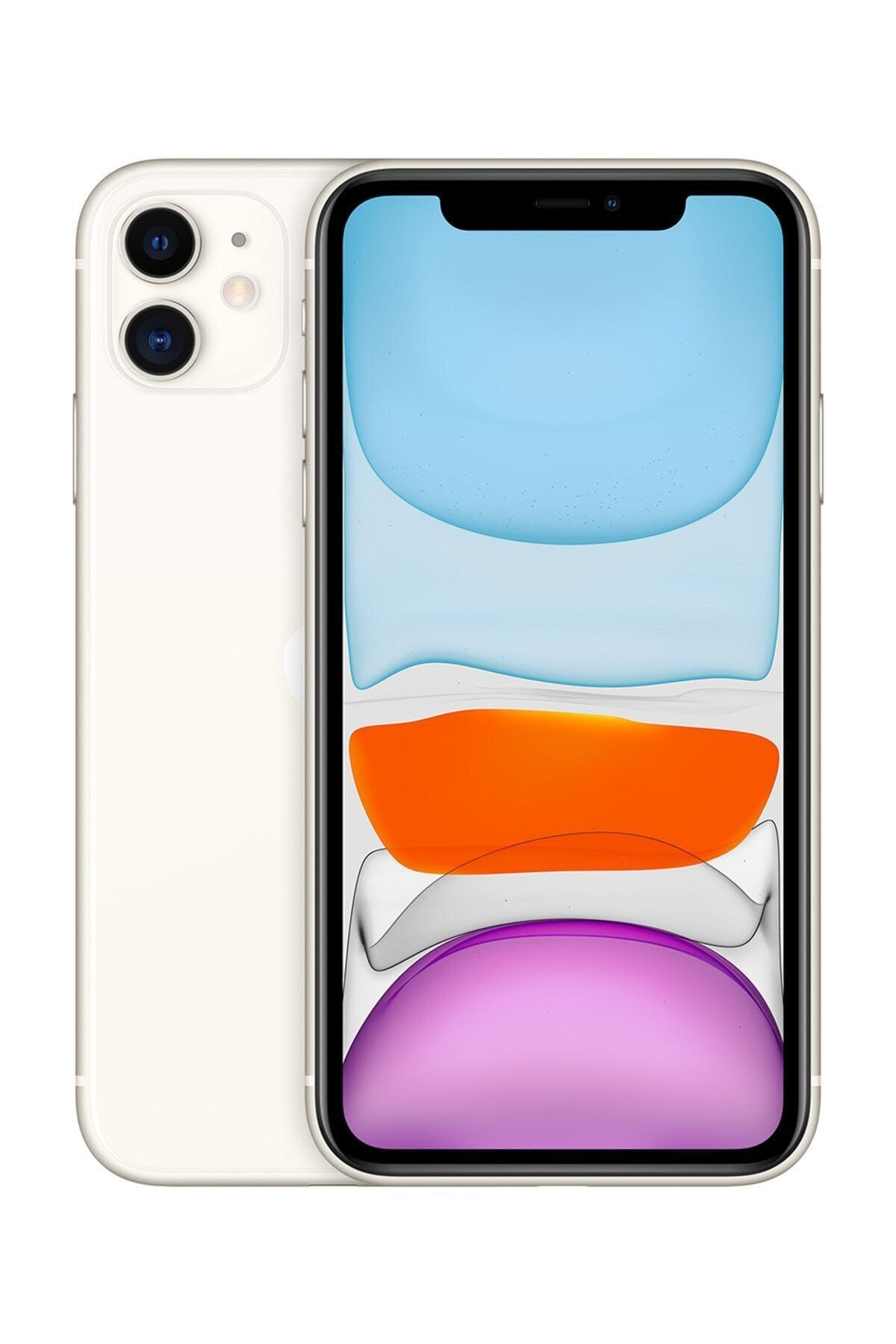 Apple iPhone 11 64GB Beyaz Cep Telefonu (Apple Türkiye Garantili) Aksesuarlı Kutu 1