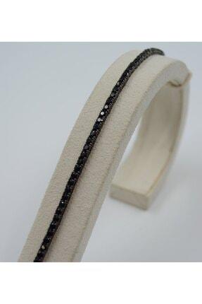 Swarovski Kadın 925 Ayar Gümüş Siyah Dizili Zirkon Taşlı  Bileklik