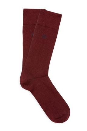 Mavi Bordo Soket Çorap