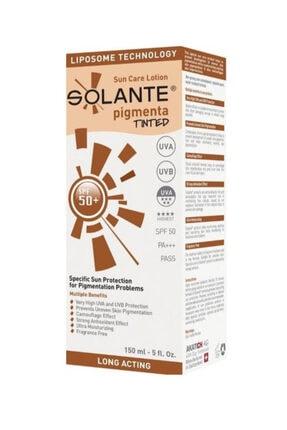 Solante Yüksey Düzeyde Güneş Koruyucu Losyon  Pigmenta Tinted Spf 50+ Losyon 150 ml
