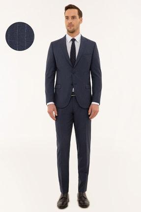 Pierre Cardin Erkek Mavi Ekstra Slim Fit Takım Elbise