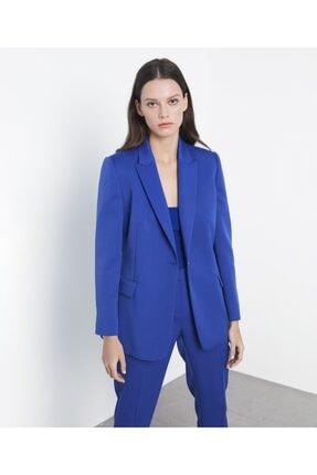 İpekyol Kadın Mavi Klasik Kesim Ceket