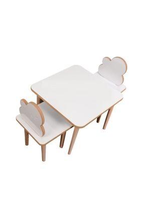 Makeart Baby Yaz-Sil Yüzey Çocuk Oyun ve Aktivite 1 Masa 2 Sandalye +Kalem +Silgi