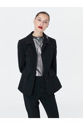 İpekyol Kadın Siyah Bel Vurgulu Ceket