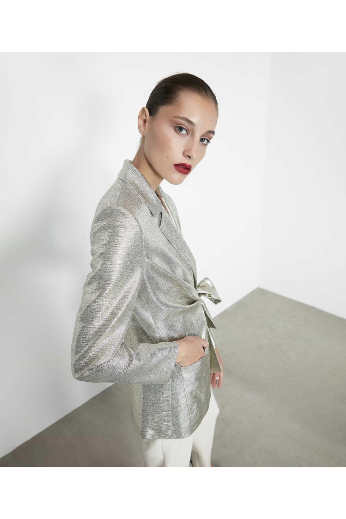 İpekyol Kadın Gümüş Anvelop Kapama Detaylı Ceket 2