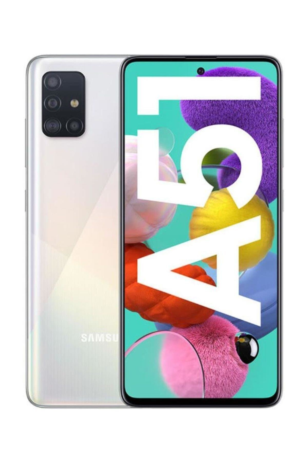 Samsung Galaxy A51 128GB Beyaz Cep Telefonu (Samsung Türkiye Garantili) 1