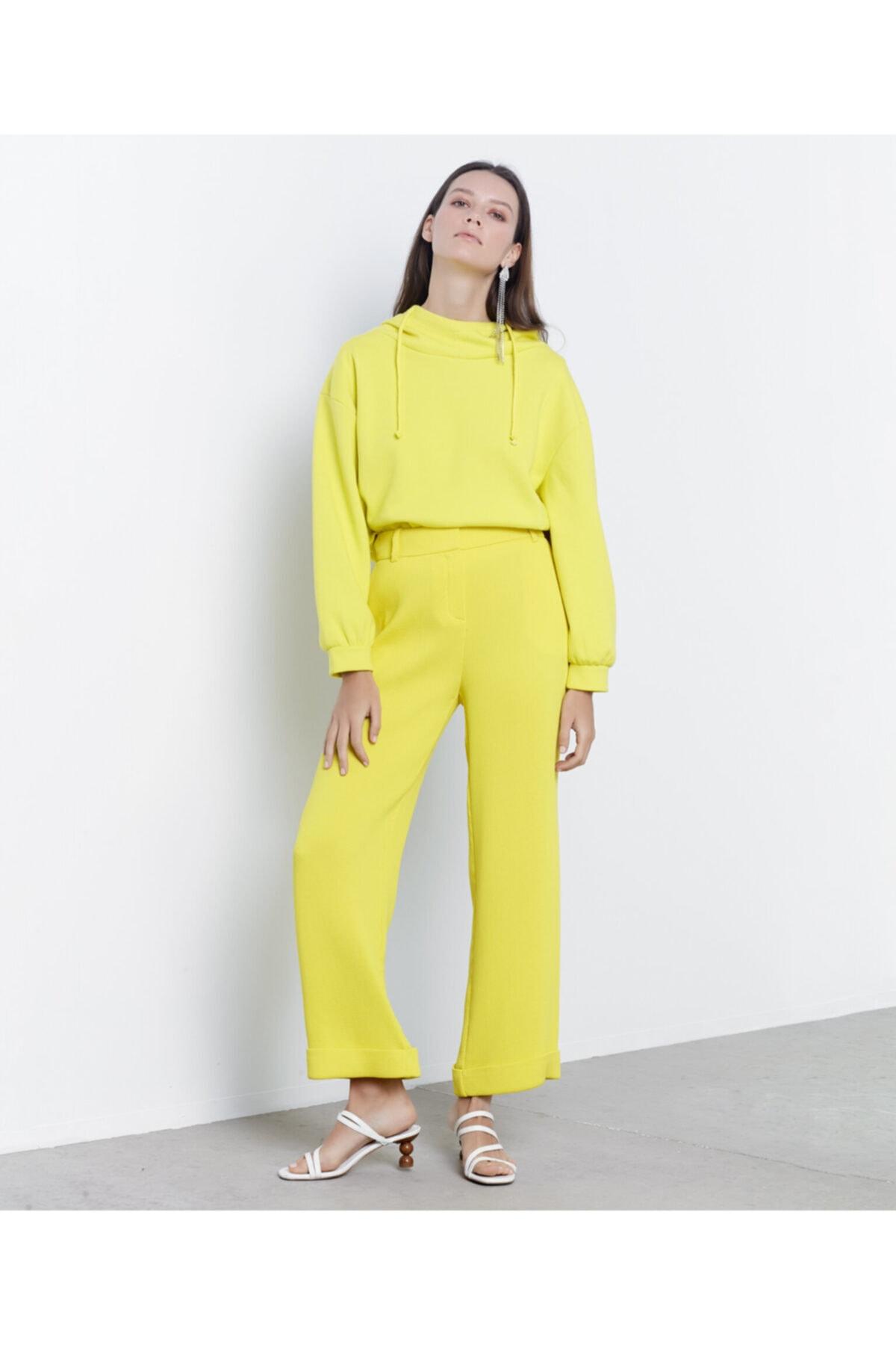 İpekyol Kadın Sarı Double Paça Pantolon 1