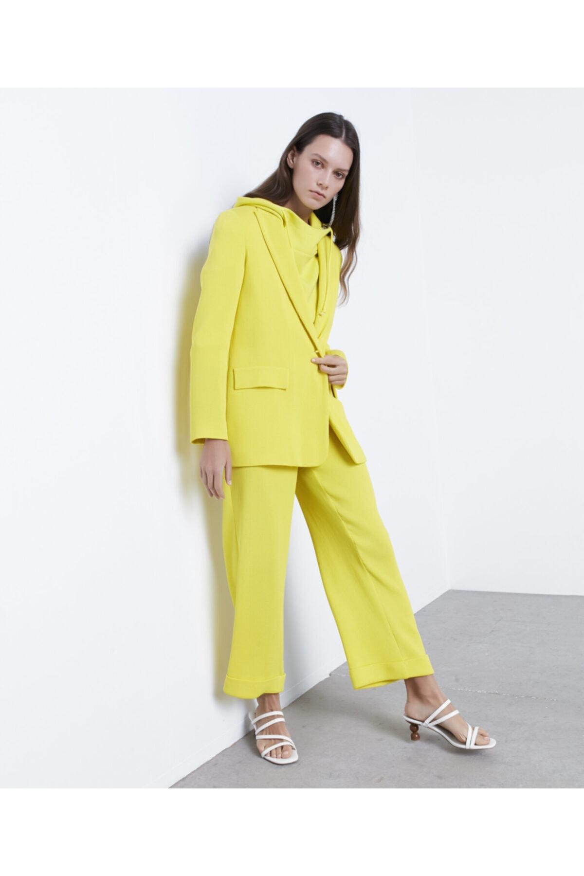 İpekyol Kadın Sarı Double Paça Pantolon 2