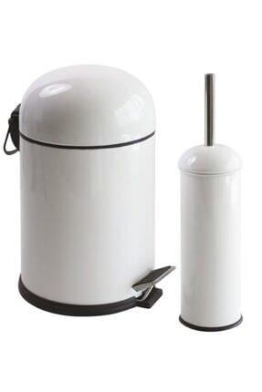 Foreca Bon 2 Li Çöp Kovası Banyo Seti Beyaz