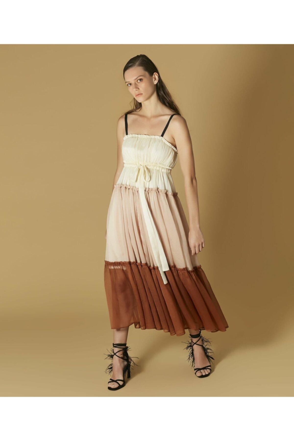 İpekyol Kadın Pembe Renk Geçişli Elbise 1