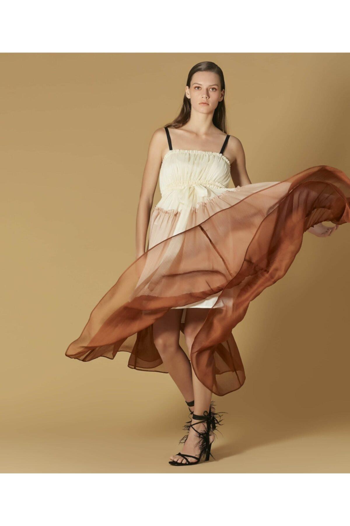 İpekyol Kadın Pembe Renk Geçişli Elbise 2