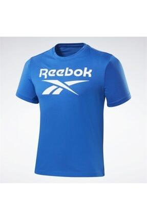 Reebok Erkek Mavi Spor T-Shirt