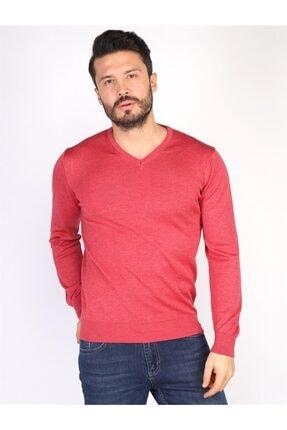 Twister Jeans Erkek Kırmızı Melanj Triko Kazak 3622