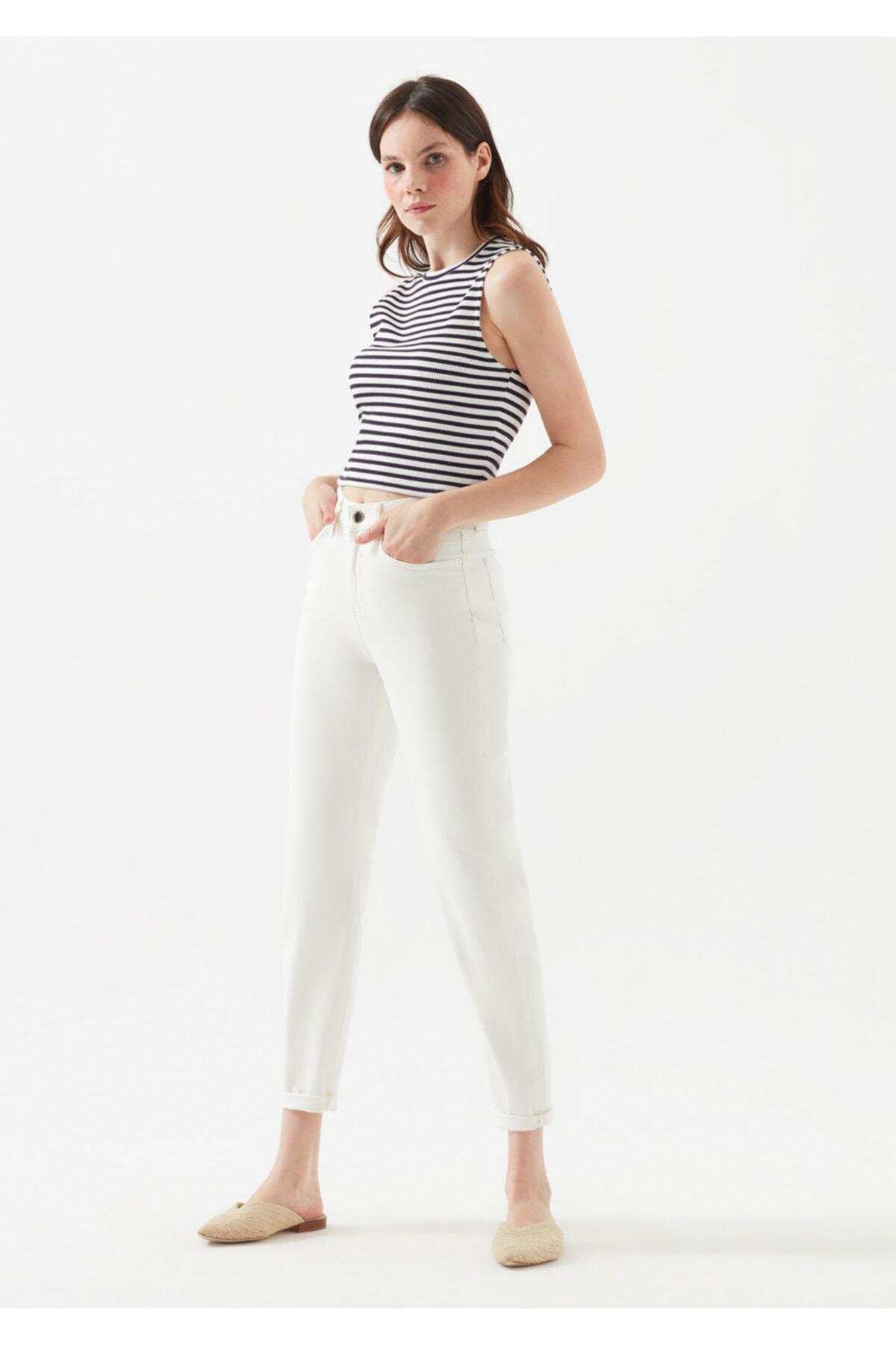 Mavi Star Gold Icon Beyaz Jean Pantolon 1