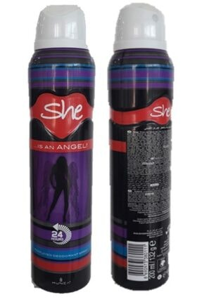 She Angel Deodorant 200 ml 2 Adet