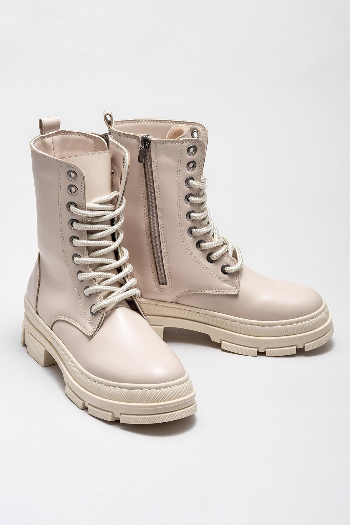 Elle Shoes Kadın Pompey Bej Bot & Bootie 20KAD3434-04 2
