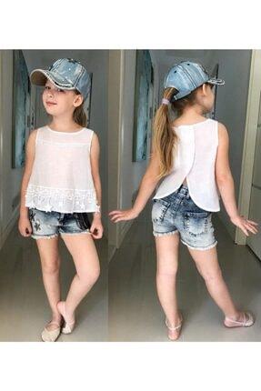 NK Kız Çocuk Beyaz Keten Gömlek