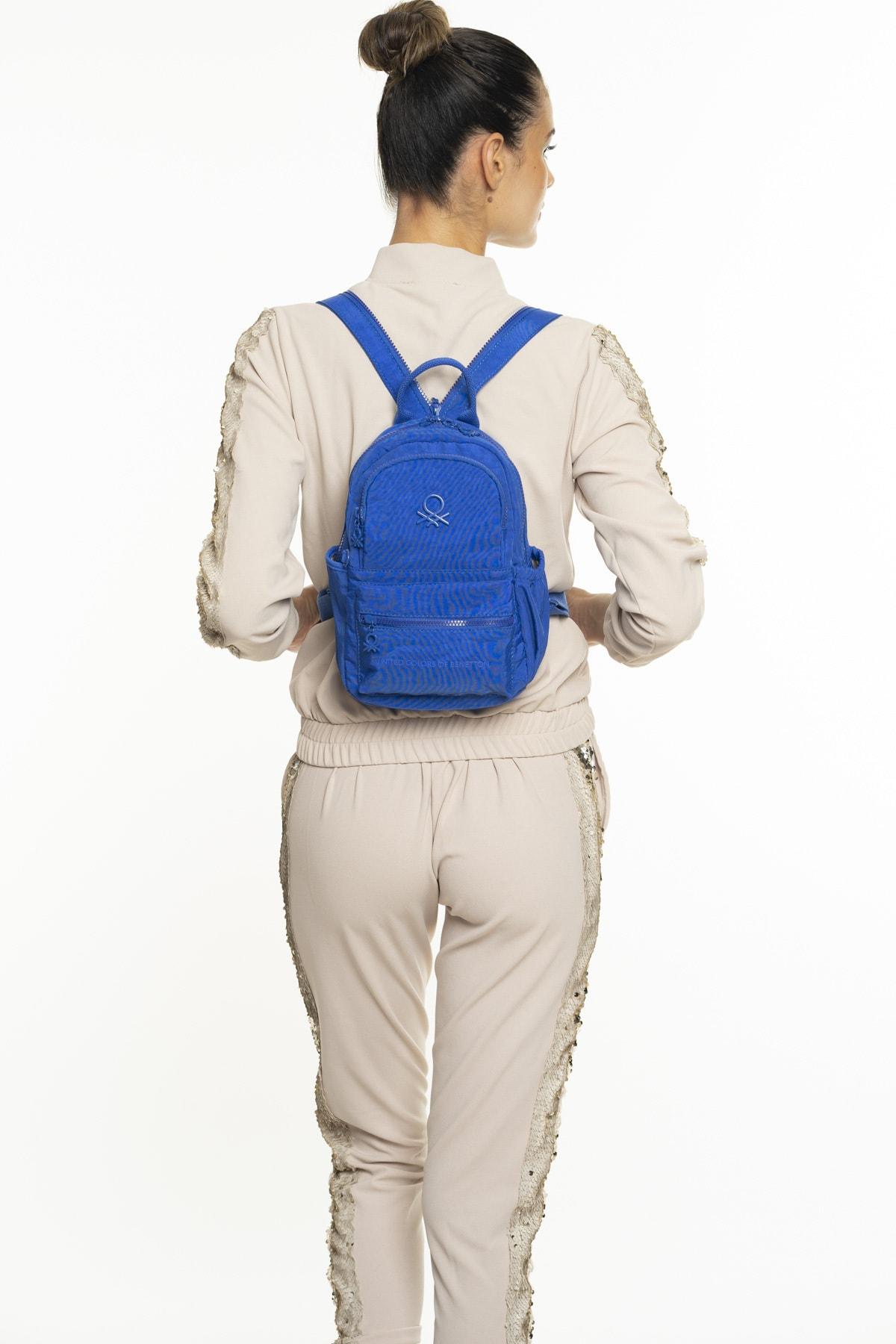 United Colors of Benetton Kadın Mavi Sırt Çantası Bnt237 1