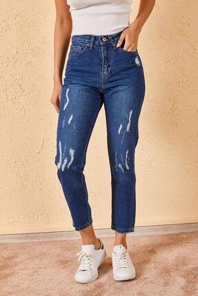 Zafoni Kadın Mavi Jean