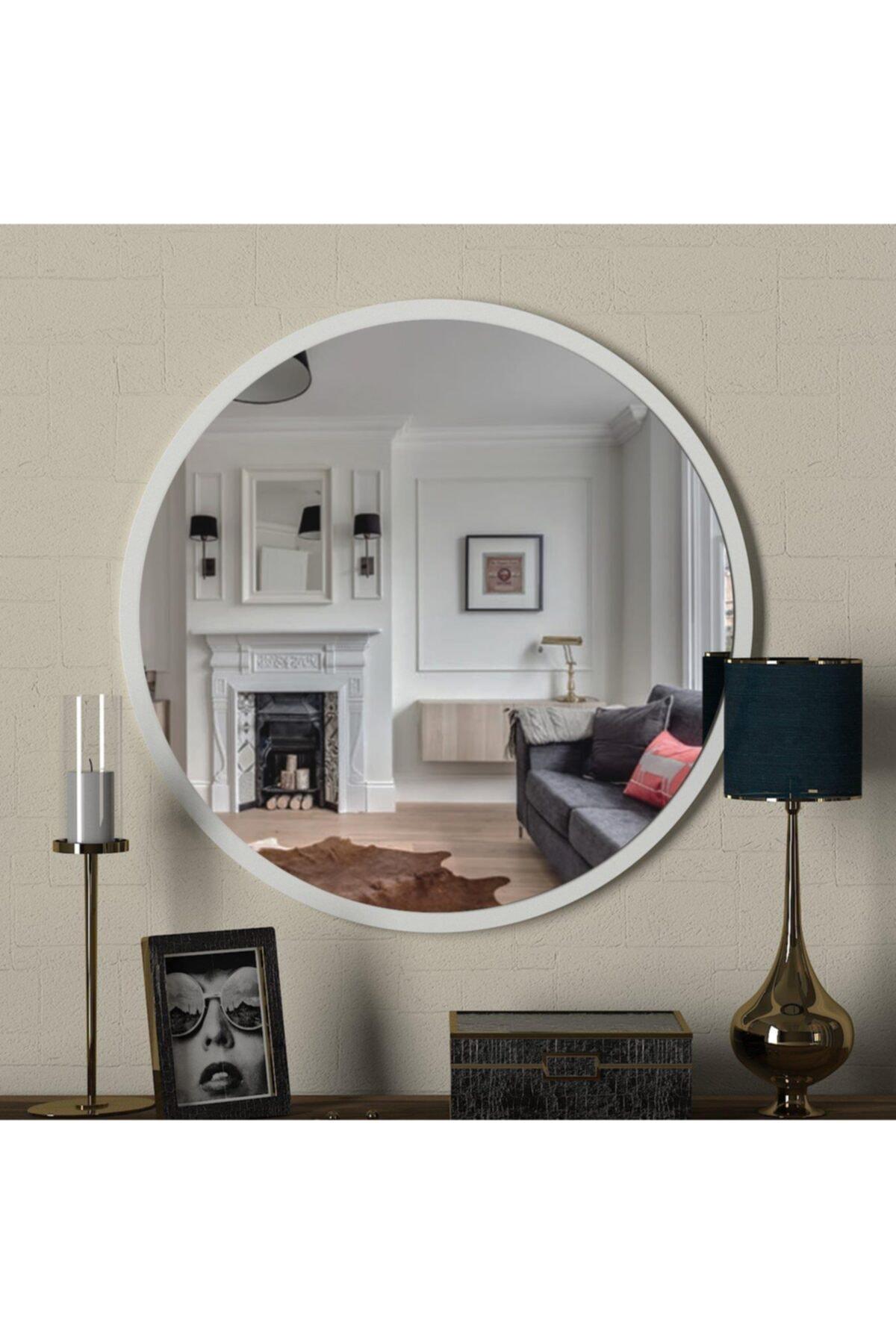 Dekorister Beyaz Exclusive Glob Ayna 2