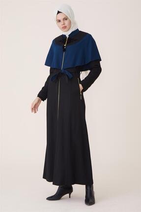Doque Kadın Siyah Uzun Pardesü DO-A7-55061-12