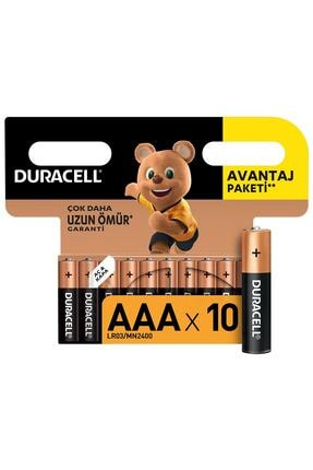 Duracell Pil Ince Aaa 10'lu