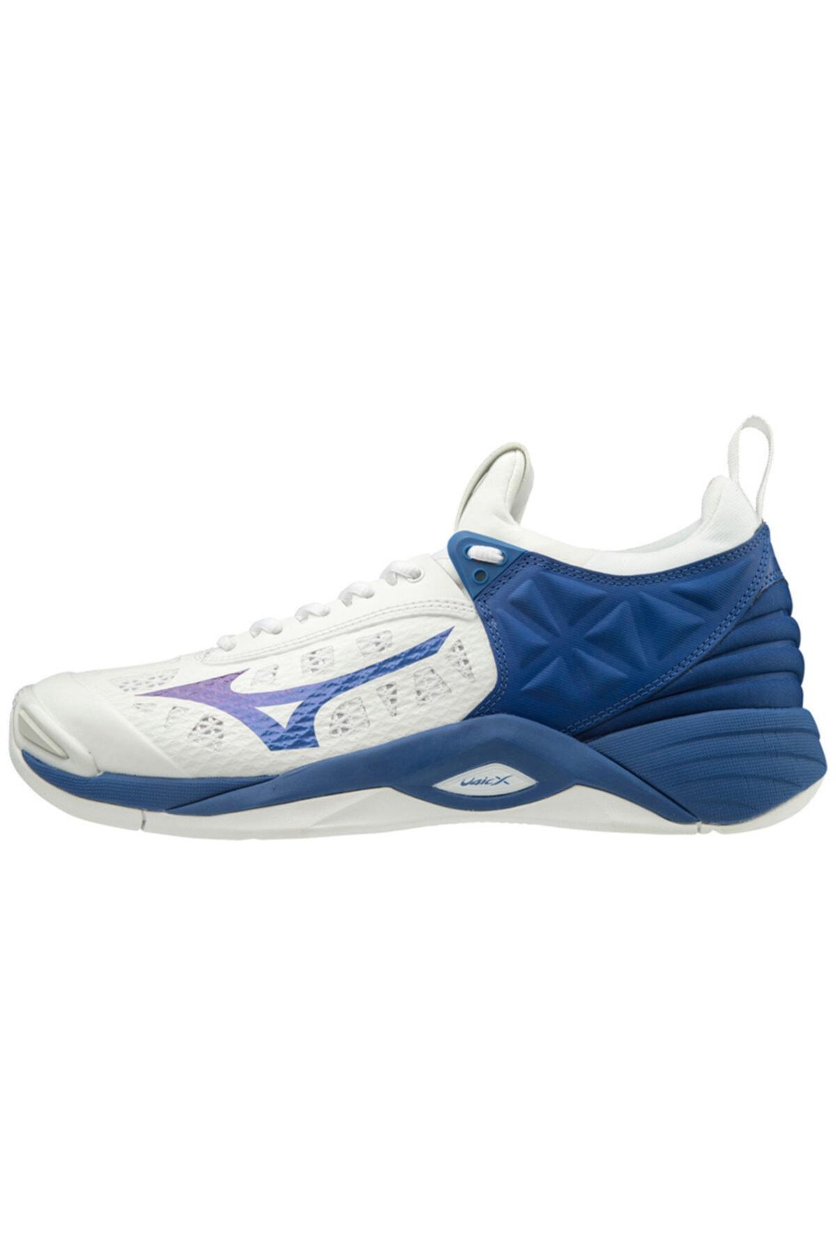 MIZUNO Wave Momentum Voleybol Ayakkabısı Beyaz/mavi 1