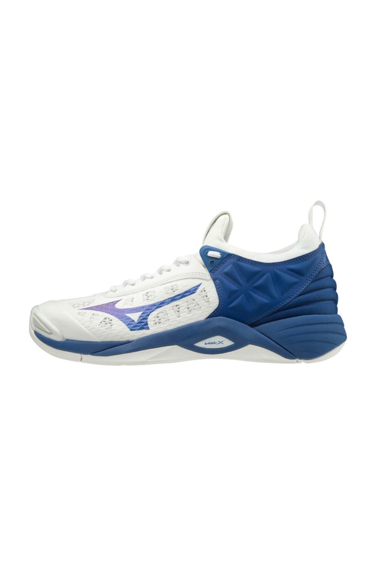 MIZUNO Wave Momentum Voleybol Ayakkabısı Beyaz/mavi 2
