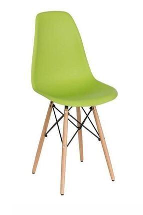 WoodyLife Ahşap Ayaklı Plastik Çocuk Sandalye Neon Etkinlik Ders Çalışma