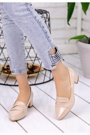 Erbilden Reyna Kadın Krem Rugan Topuklu Ayakkabı