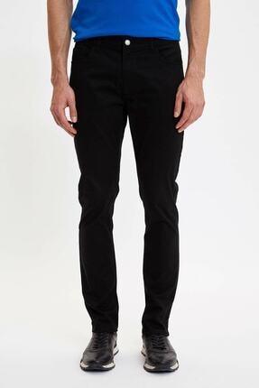 DeFacto Erkek Siyah Slim Fit Chino Pantolon