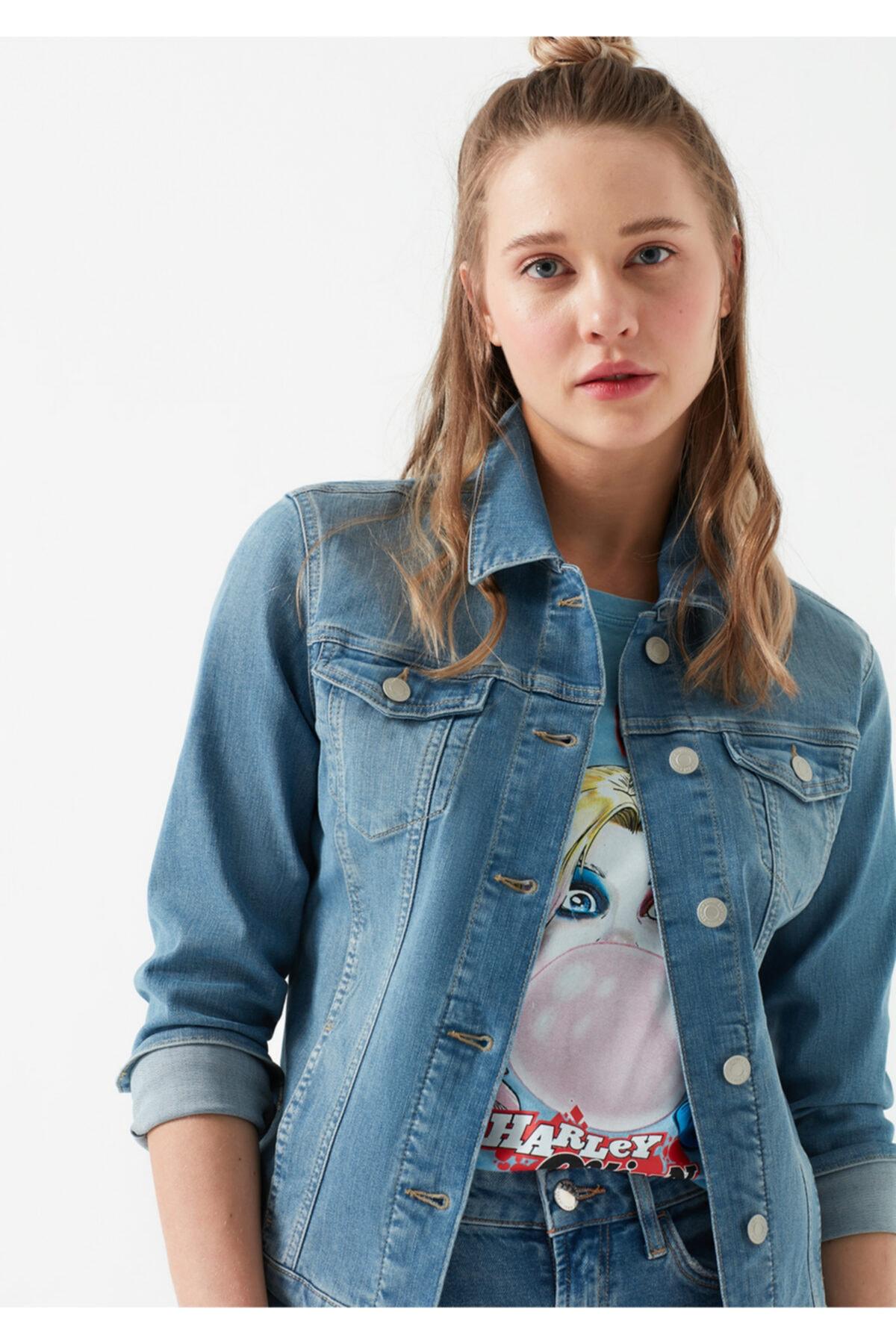 Mavi Daisy Vintage Açık Mavi Jean Ceket 1