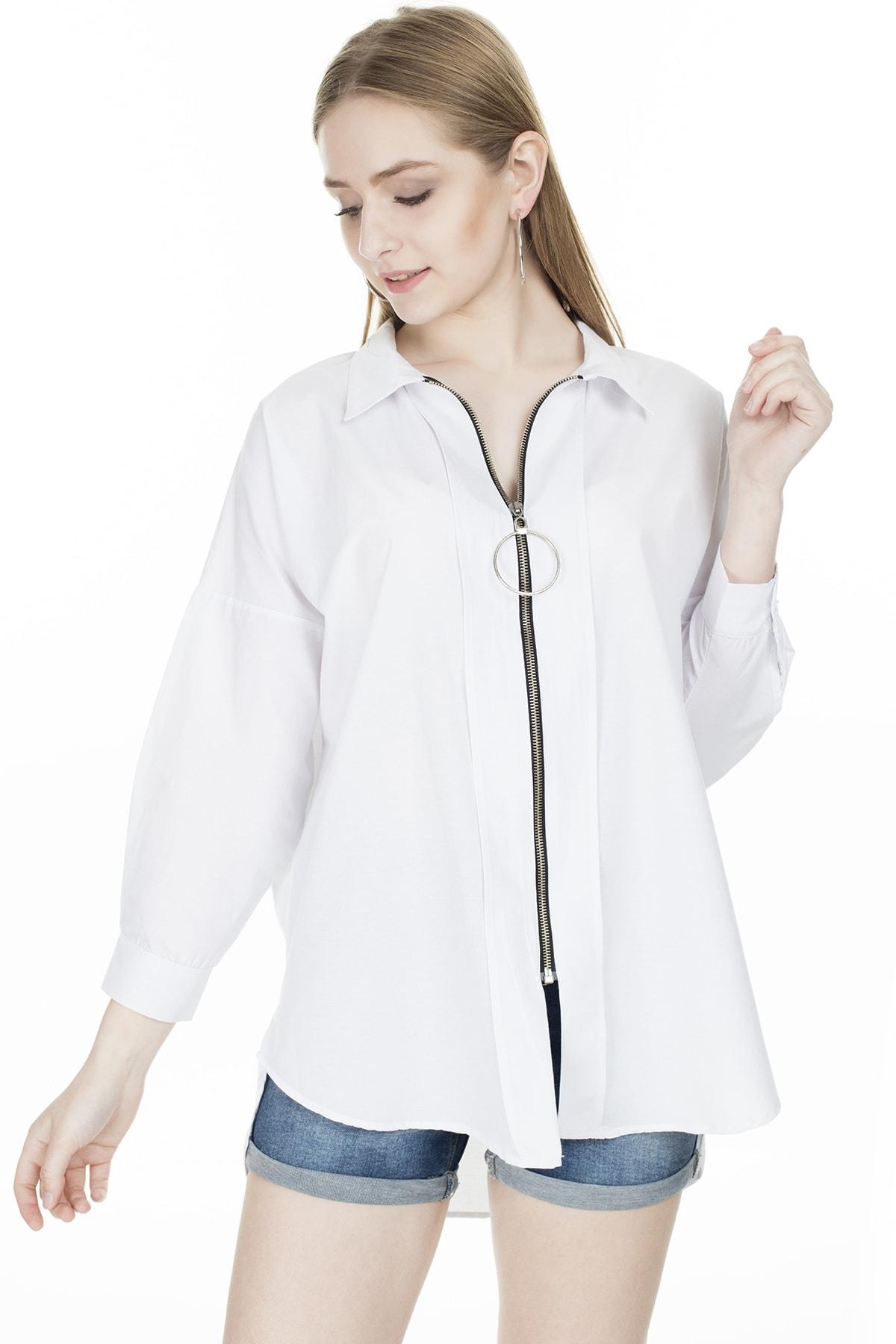 Lela Fermuarlı Gömlek KADIN GÖMLEK 5202580