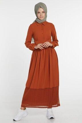 Loreen Kadın Kiremit Elbise 22096-58
