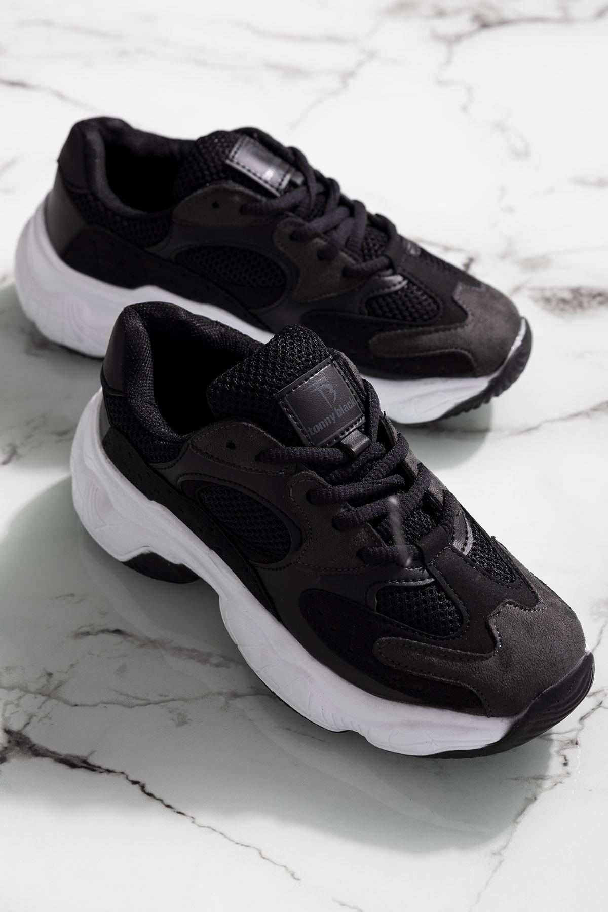 Tonny Black Kadın Siyah Spor Ayakkabı Tb284 1