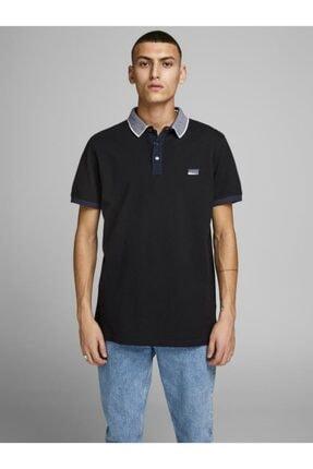 Jack & Jones Erkek Siyah Polo Yaka T-shirt 12167174