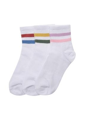 TRENDYOLMİLLA 3'lü Çok Renkli Örme Çorap TWOAW20CO0054