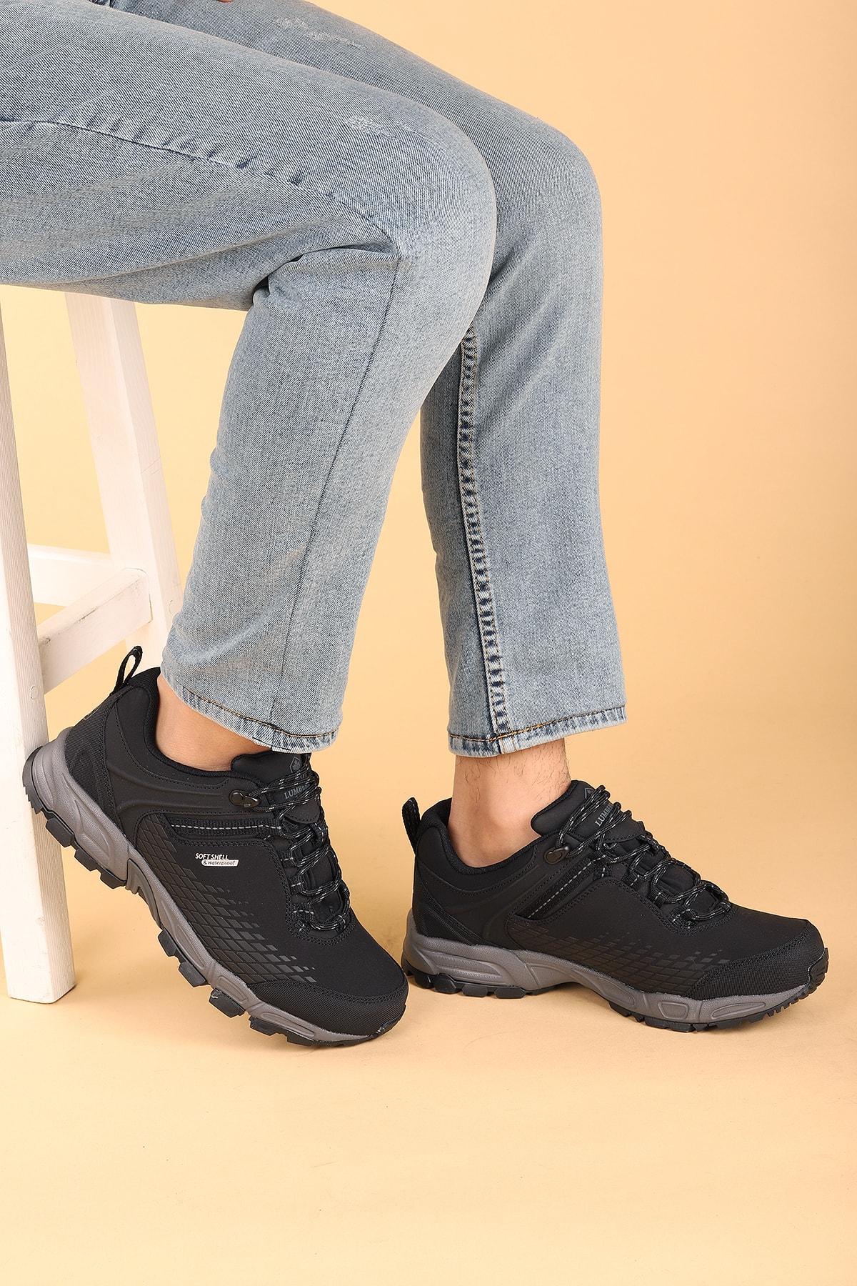 lumberjack Erkek Siyah Bot Ayakkabı Flake Su Geçirmez 2