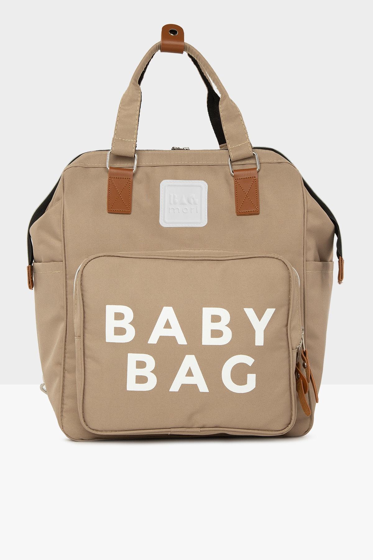 Bagmori Vizon Baby Bag Baskılı Cepli Anne Bebek Bakım Sırt Çantası M000005163