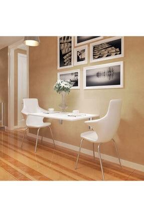 Eyibil Mobilya Beyaz Ege Açılır Kapanır Çalışma Masası Mutfak Masası Katlanır Duvar Masası