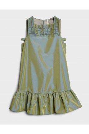 Yargıcı Kadın Açık Yeşil Nakış Detaylı Elbise 0KKEL7037X