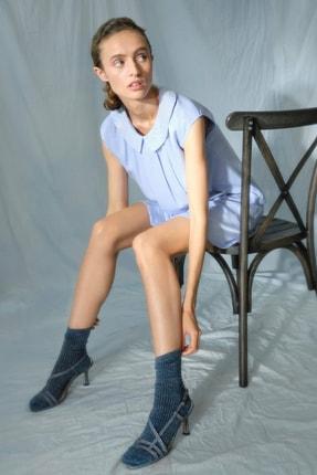 Yargıcı Kadın Lila Gömlek Yakalı Elbise 0KKEL7017A