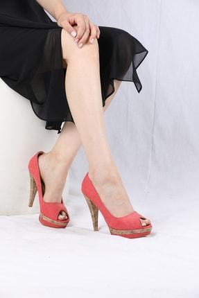 Orkide Kadın Oranj Nubuk Ayakkabı