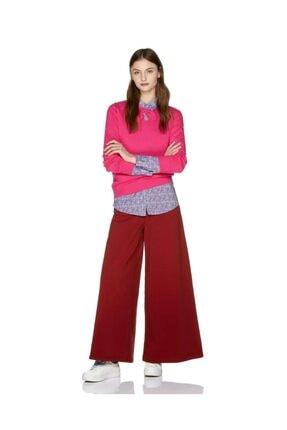 United Colors of Benetton Kadın Bordo Bol Kesim Pantolon