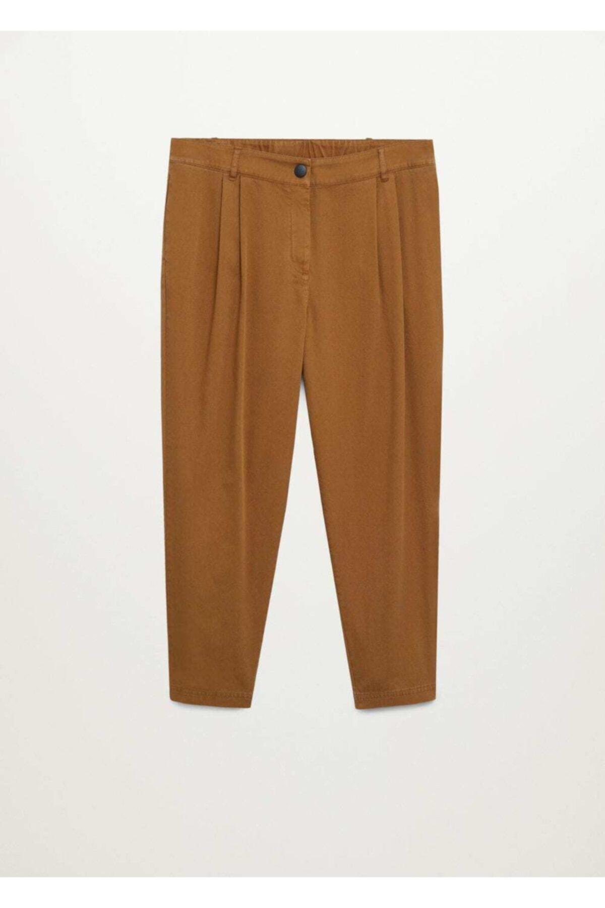 Violeta by MANGO Kadın Kahverengi Pantolon 1