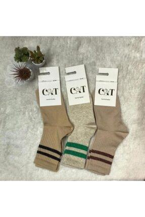 ADEL ÇORAP 3'lü Kadın Desenli Çorap