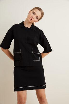 adL Kadın Siyah Triko Ceket