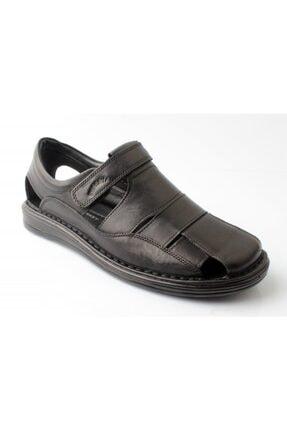 WoW Ayakkabı Siyah Erkek Deri Sandalet