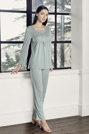 Artış Kadın Çağla Yeşil Viskon Pijama Takımı 9210